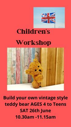 Picture of Children's Workshop  1st Slot Saturday June 26th  : 10.30am - 11. 15am
