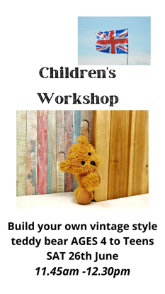 Picture of Children's Workshop 2nd slot:  Saturday June 26th  11.45am - 12.30