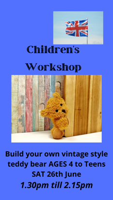 Picture of Children's Workshop 3rd Slot:  Saturday June 26th   Starts 1.30pm till 2.15pm